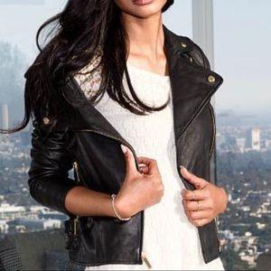 Victoria Secrets Black XL Leather Jacket